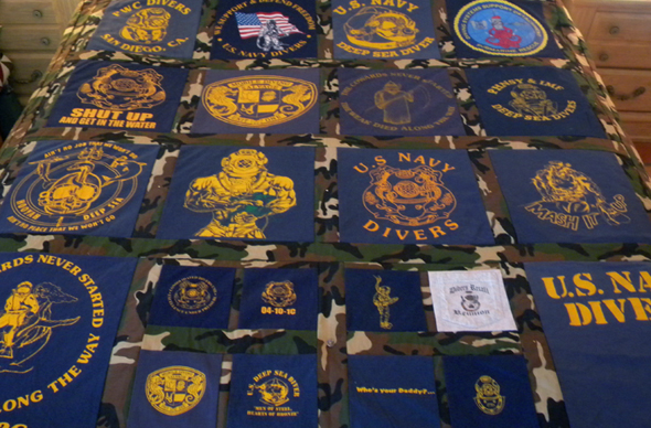 Sample Quilts: Coronado Keepsake Quilts located in Coronado ... : military quilts - Adamdwight.com